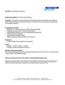 resume exle for machine operator augustais