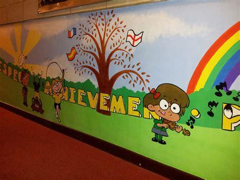 school wall murals giddy goose park road school wall murals