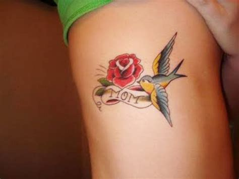 bird and roses tattoo lovely dove tattoos for and collections