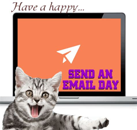 happy send an email day card free send an email day