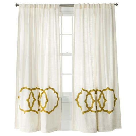 target drapes gold and white curtains target 28 images threshold