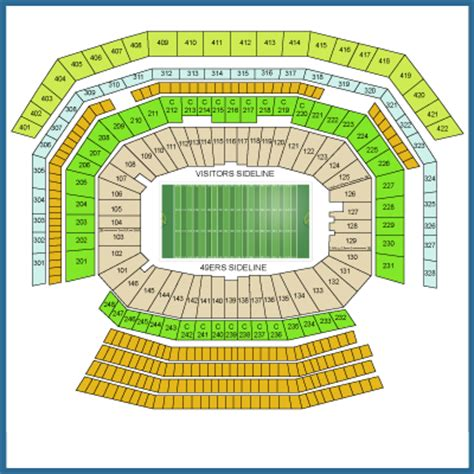 49ers stadium seating view levi s stadium seating chart pictures directions and