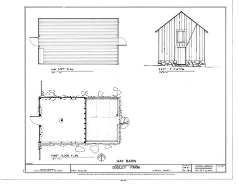 first floor plan file hay barn east elevation hay loft plan and first
