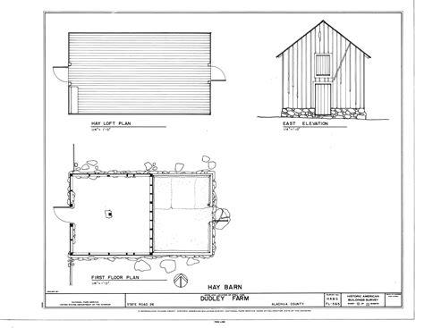 philip johnson building floor plans scaled file hay barn east elevation hay loft plan and