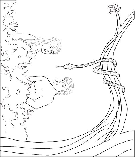 coloring page adam and eve sin coloring page adam and eve sin