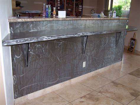 Unique Kitchen Furniture brushed steel skin and breakfast counter ironcraft in az