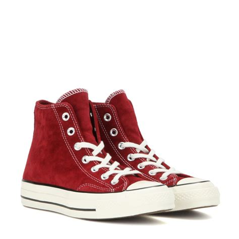 high top shoes for lyst converse chuck suede high top sneakers in