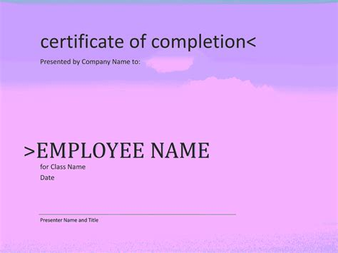 certificate of course completion template certificate of completion for course free certificate