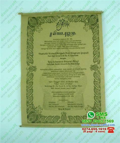 Undangan Pernikahan Manten Murah Sehari Jadi undangan gulung murah ugm undangan pernikahan murah