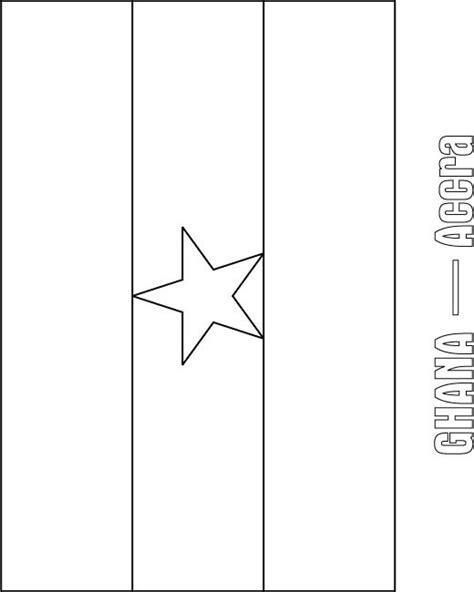 ghana flag coloring page download free ghana flag