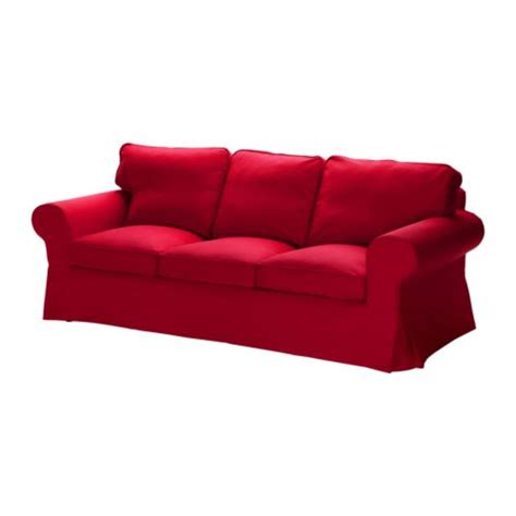 the red sofa ektorp sofa idemo red ikea