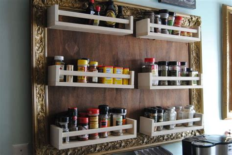 diy vertical spice rack ikea hack turn spice racks and a large frame into hanging storage hometalk