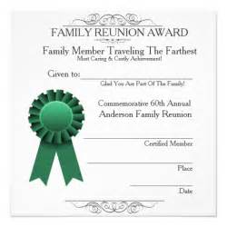 Traveled Farthest Family Reunion Awards Template