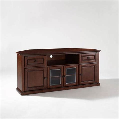 Cabinet For 60 Inch Tv by 60 Inch Corner Tv Stand In Vintage Mahogany Crosley
