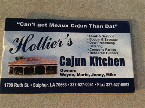 Hollier S Cajun Kitchen Sulphur Louisiana by Hollier S Cajun Kitchen Sulphur Omd 246 Om Restauranger