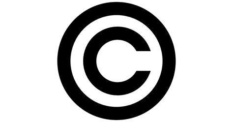 copyright symbol  shapes icons