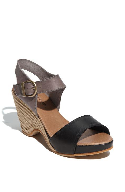 eric michael shoes eric michael nemo espadrille sandal in black black grey