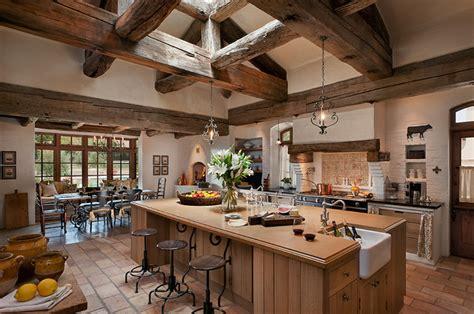houzz country country estate mediterranean kitchen