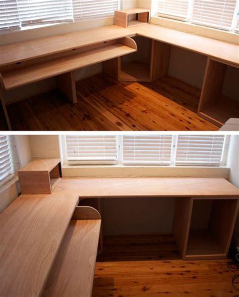 Plywood Computer Desk Best 25 Plywood Desk Ideas On Design Desk Net And Design Table