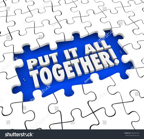 How To Put A L Together put all together puzzle pieces solving stock illustration 296344148