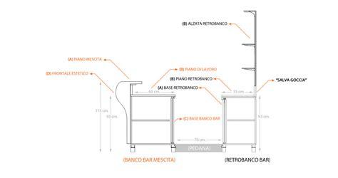 Altezza Bancone Bar by Bancone Bar Dimensioni Trattamento Marmo Cucina