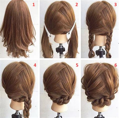 hair styles step by step with pictures easy step by step hairstyles for medium hair