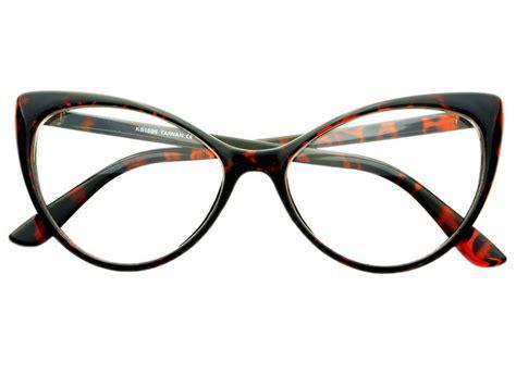 clear lens retro large womens cat eye glasses frames