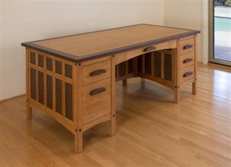 craftsman style desk plans diy blueprint plans