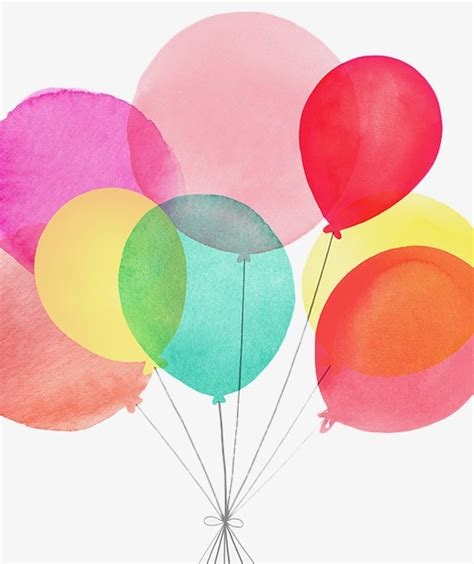 painted watercolor balloon watercolor clipart
