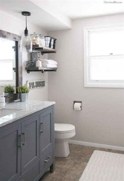 bathroom styles industrial farmhouse bathroom reveal cherished bliss