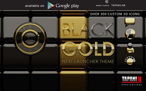 gold themes download next launcher theme black gold download apk for android