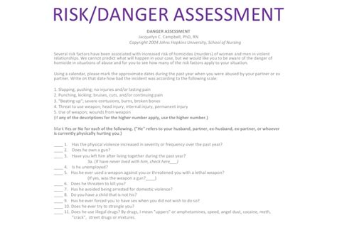 domestic violence risk assessment template gallery