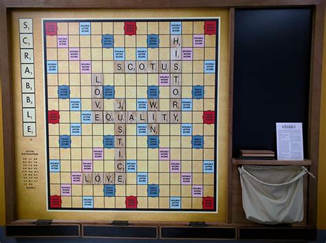 size of a scrabble board s size wall scrabble board