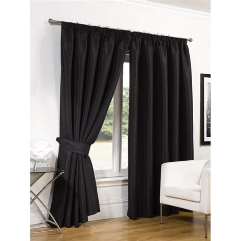 silk blackout curtains dreamscene faux silk blackout curtains black iwoot