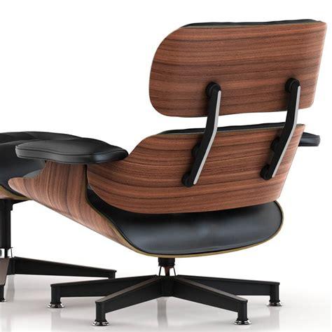 hallandale top grain leather club chair black walnut wood eames replica lounge chair ottoman premium top