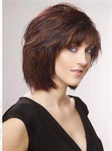 bob haircuts diy medium brown red style with bangs side view this is the
