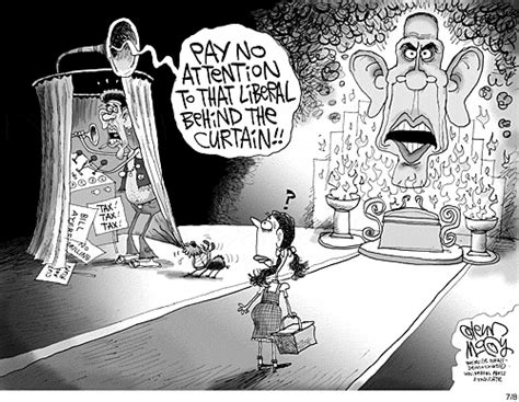 iron curtain political cartoons political irony pay no attention to that liberal behind