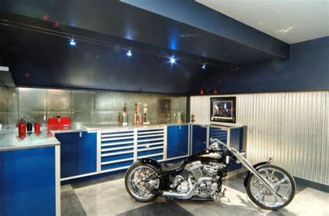 design a dream garage dream motorcycle garages park your ride in style at night