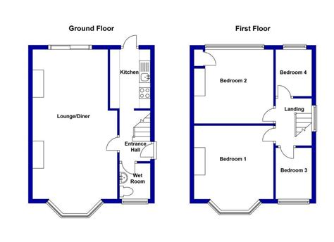 semi detached floor plans semi detached house floor plan house design ideas