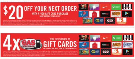 Gift Card Special Offers - gift card deals at giant and stop shop frequent miler