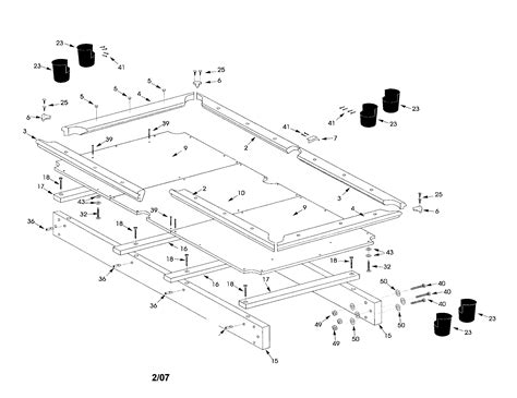 pool table parts diagram sears pool table parts model 52725165 sears partsdirect