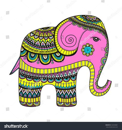indian elephant doodle doodle indian elephant with tribal ornament