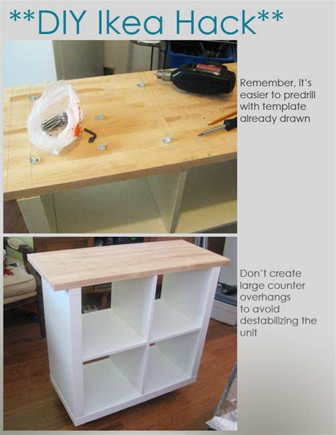 Diy Ikea Hack Kitchen Island Tutorial Construction 2 | diy kitchen island ikea woodworking projects plans