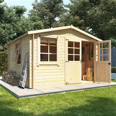 Garden Shed Log Cabin by Billyoh Clubman Heavy Duty Shed Log Cabin Wooden Sheds