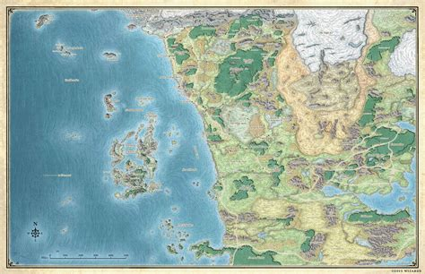 forgotten realms map ooc of the sword coast a castle management forgotten realms crossover