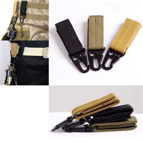 Quickdraw Carabiner Tactical Belt Outdoor molle attach belt clip webbing backpack quickdraw