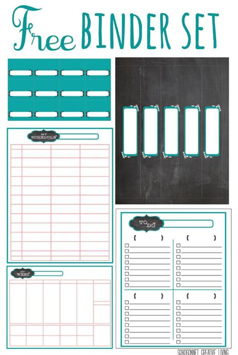 free printable planner binder 20 free printables to organize everything in your home