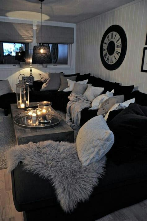 Living Room Decor With Black Sectional Best 25 Black Sectional Ideas On Black And