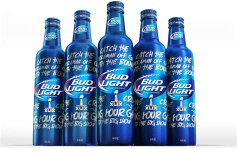 bud light aluminum bottles bud light bowl xlix limited edition bottle on