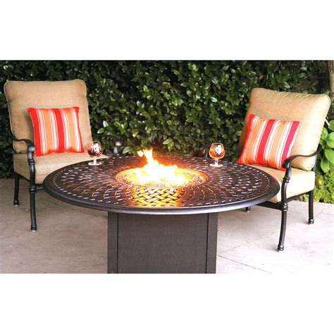 Firepit Patio Set Review Darlee Florence 2 Person Cast Aluminum Seating Patio Pit Conversation Set